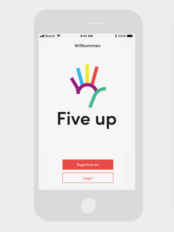 branding, screendesign, logodesign, fiveup app