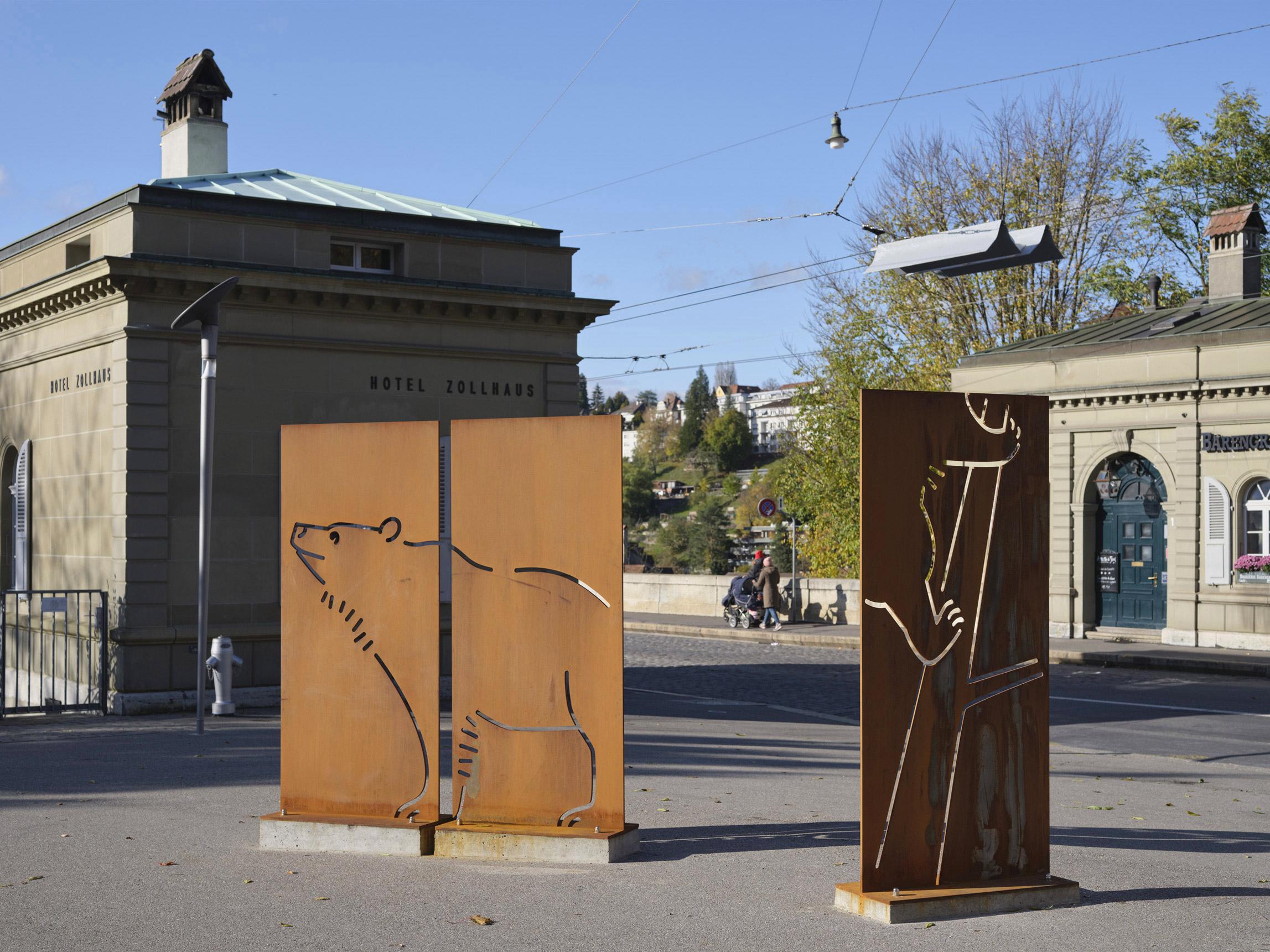 Signaletik Inszenierung und Szenografie für Baerenpark Bern
