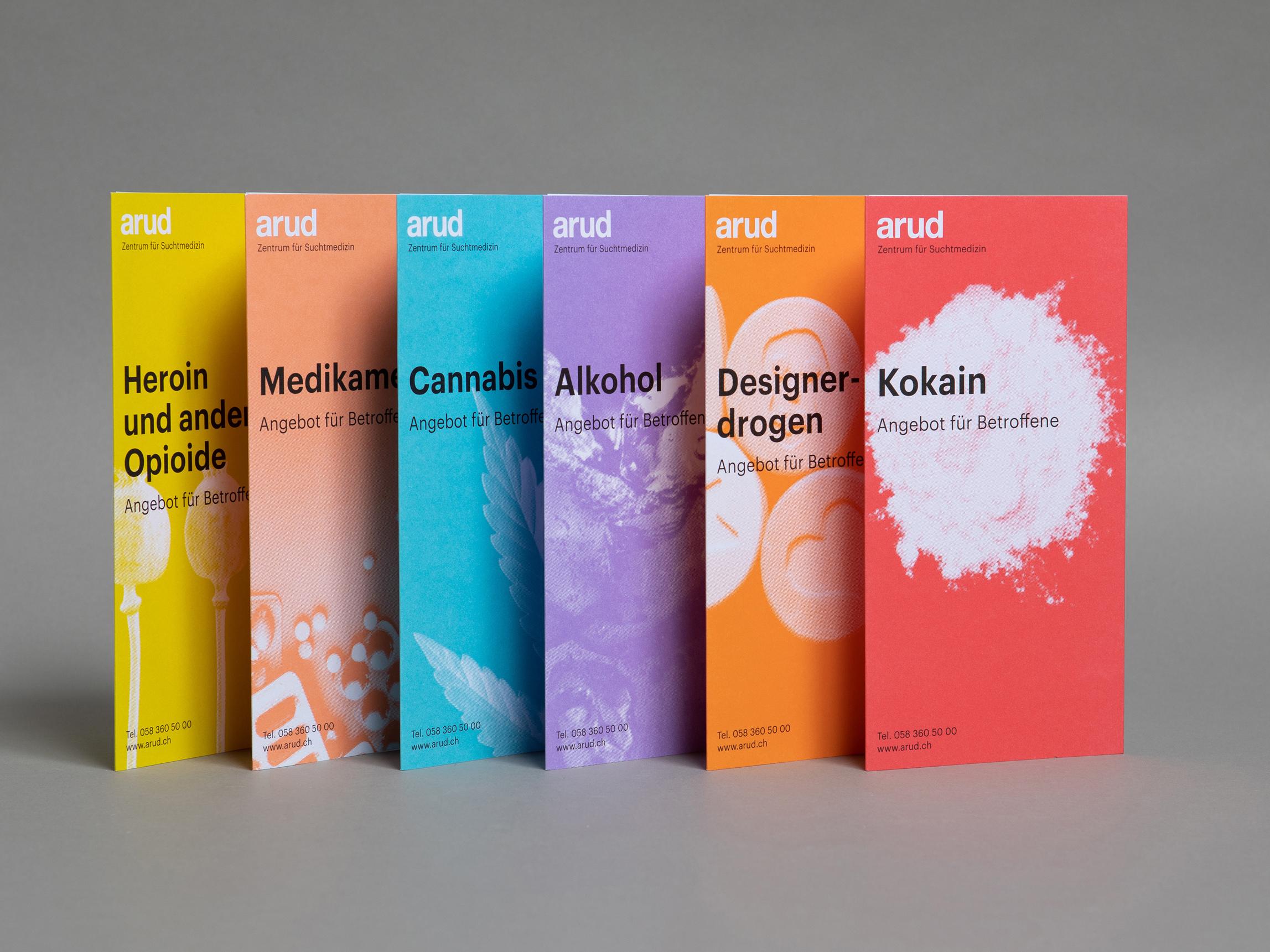 Branding und Coporate Design für Arud Zentrum für Suchtklinik Zürich
