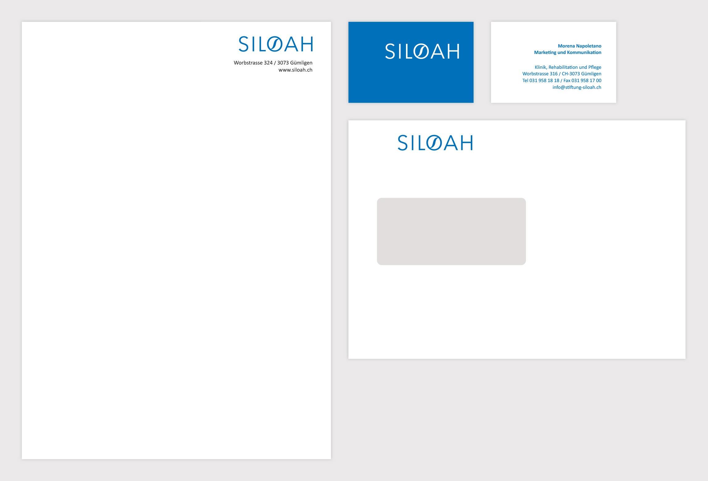 Corporate Design Branding Siloah Bern