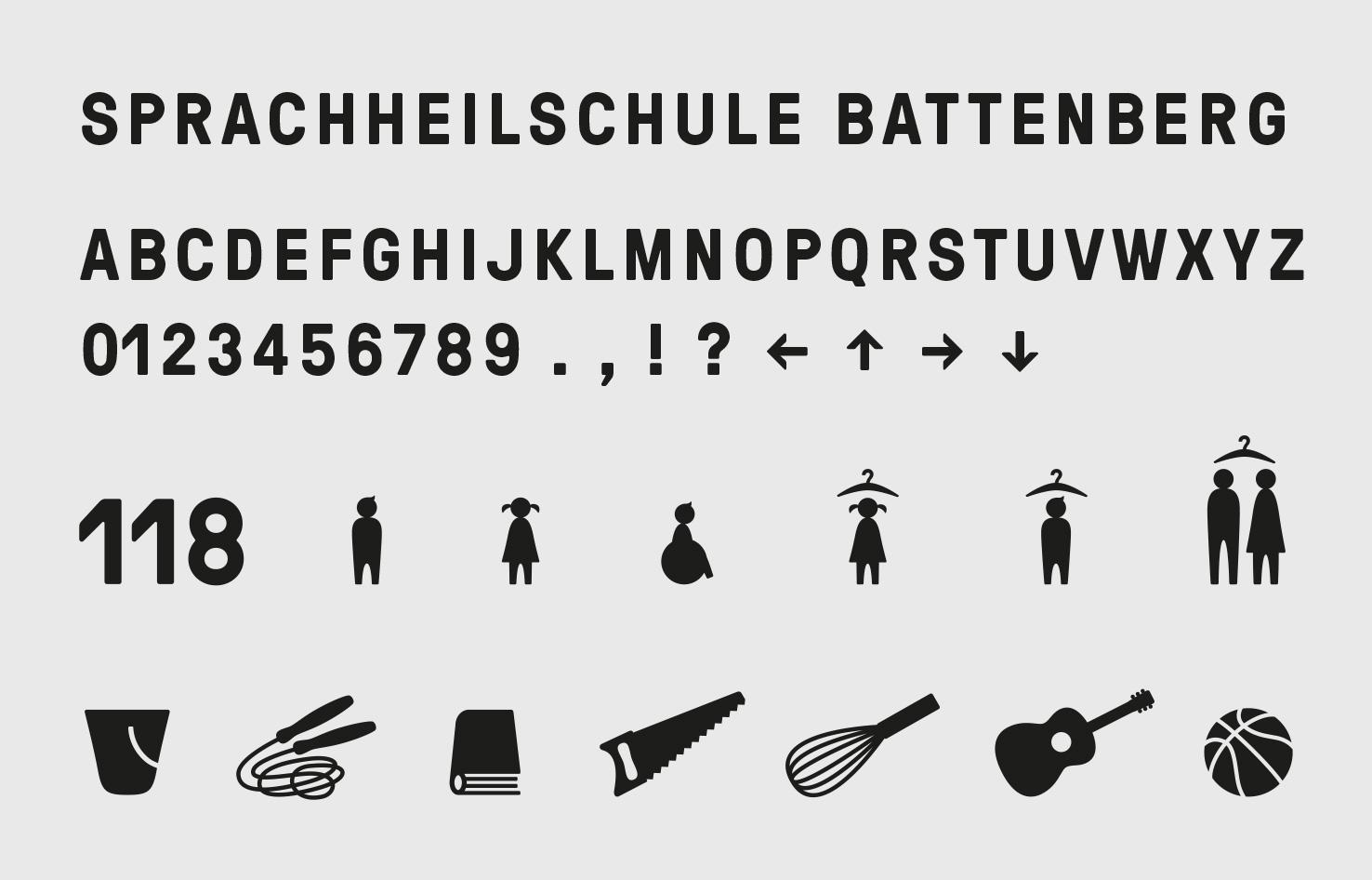 Manual Signaletik Piktogramme Schule Battenberg