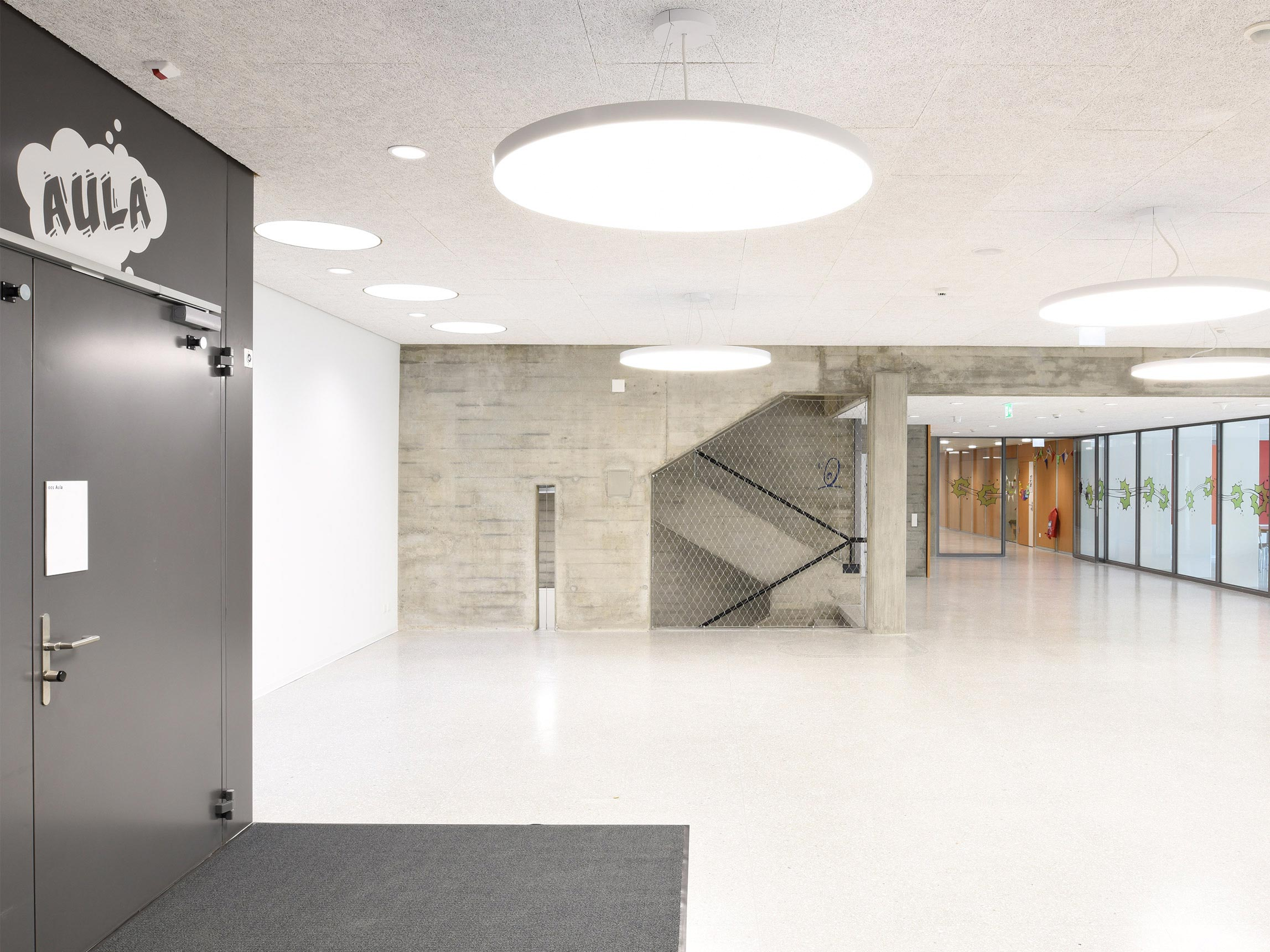 Aula Schule Wankdorf Signaletik