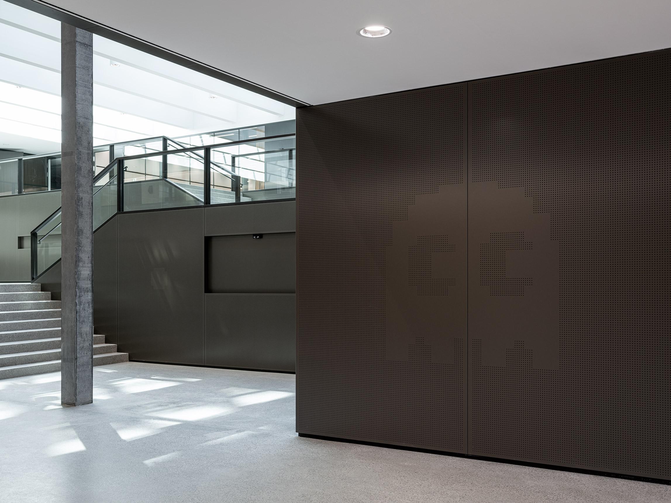 Signaletik Retro Icon Foyer Architektur am Eichenweg 3, BIT, Zollikofen Bern