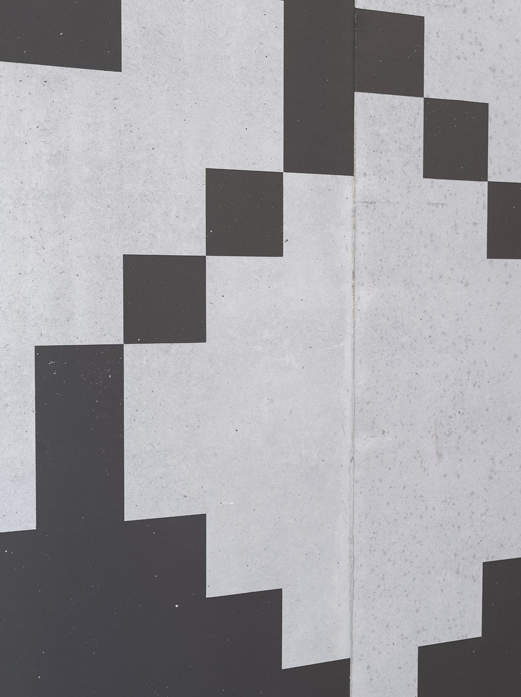 Detail Signaletik Schabloniert auf Beton, Eichenweg 3, Zollikofen Bern