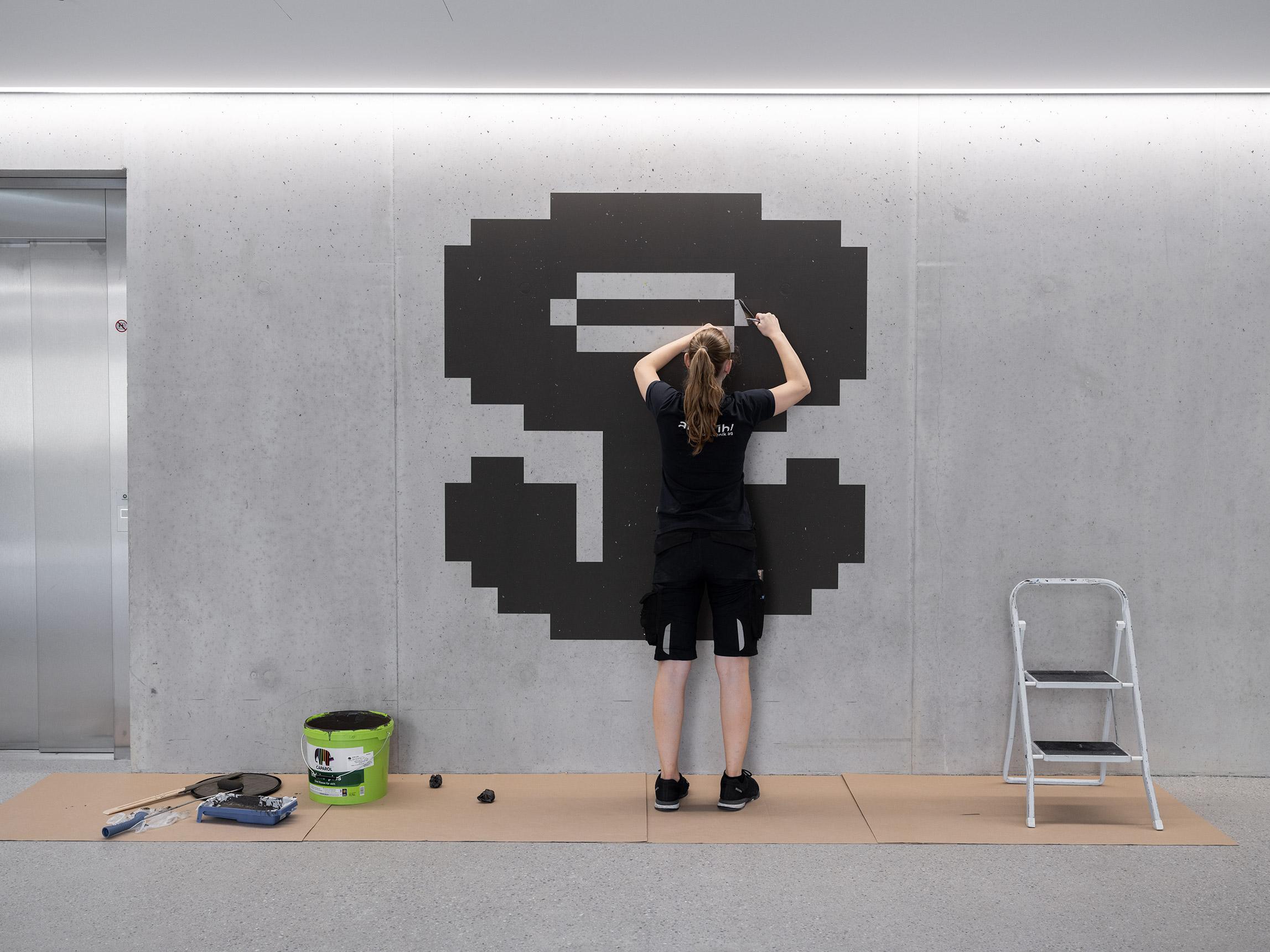 Makingoff Signaletik schabloniertes Piktogramm, Eichenweg 3, BIT, Zollikofen, Bern